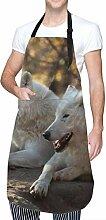 Miedhki Tablier avec poche & cravates réglables,