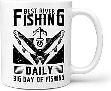 MiKiBi-77 Tasse à café « Best River Fishing »