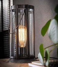 Mila Lampe De Table Industriel  - Verre
