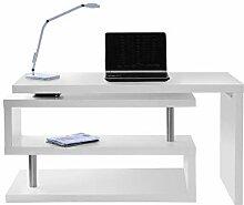 Miliboo Bureau Design modulable Blanc Mat Max