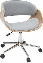 Miliboo - Chaise de bureau à roulettes tissu gris
