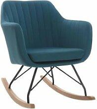 Miliboo - Fauteuil rocking chair scandinave tissu