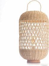 Miliboo - Lampe de sol en rotin MOOREA