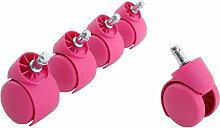 Miliboo - Roulettes fauteuil de bureau roses (lot