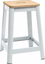 Miliboo - Tabouret de bar design H65cm NICK - Blanc