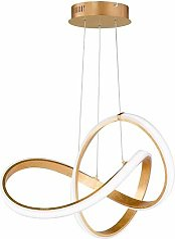 Millumine - Grand lustre doré LED style baroque