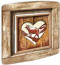 Millumine Interrupteur Decore Chalet Coeur Vache