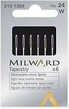 Milward Aiguilles Tapisserie, Taille 18, Lot de 6
