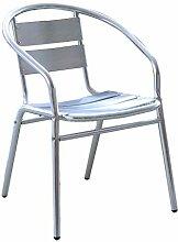 MIMBRE NATURAL Chaise Ovale en Aluminium (55 × 59