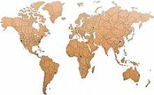 MiMi Innovations Décor de carte du monde murale