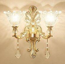 MINGRT Lampes Murales Cristal, Applique Murale