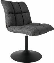 MINI BAR - Chaise rotative tissu gris foncé