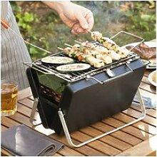 Mini barbecue à charbon pliable et portable -