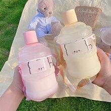 Mini bouteille d'eau créative en plastique