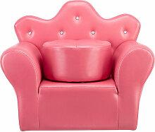 Mini Canapé enfant canapé princesse en cuir PVC