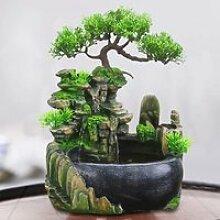 Mini fontaine d'eau cascade de résine pour