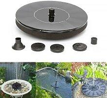 Mini fontaine d'eau flottante à énergie