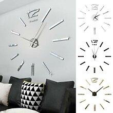 Mini horloge murale 3D avec miroir bricolage
