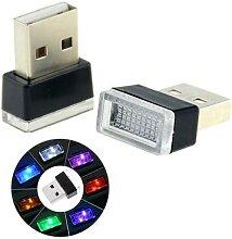 Mini lampe LED USB, 7 couleurs de lumière, néon,
