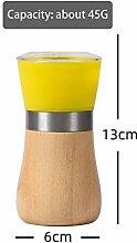 Mini manuelle moulin à poivre bois + plastique