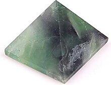 Mini Pierres polies Pyramide vert cristal naturel