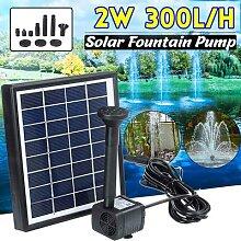 Mini pompe à eau à panneau solaire, 2W, 300l/H,