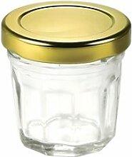 Mini pot à confiture 4,4 cl en verre, avec