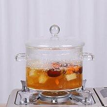 Mini Pot à soupe en verre Transparent, casserole