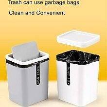 Mini poubelle de bureau en plastique B1, petite