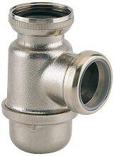 Mini siphon de lavabo laiton sortie 32 mm finition
