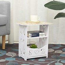 Mini Table basse à deux niveaux, Table à thé,