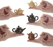 Mini théière en poterie émaillée avec poche,