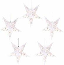 Minkissy 10 Pcs De Noël Papier Étoile Lanterne