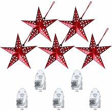 Minkissy 10Pcs Papier de Noël Étoile Lanterne