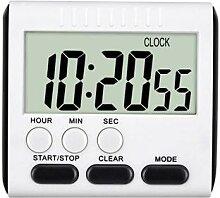 Minuterie de cuisine numérique LCD magnétique,