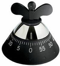 Minuteur - A di Alessi noir en métal/matière