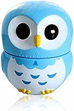 Minuteur mécanique de dessin animé Owl 60