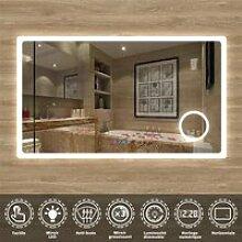 Miroir 120cmx70cm multifonctionnel avec 3 couleur