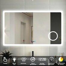 Miroir 140cmx80cm multifonctionnel avec 3 couleur
