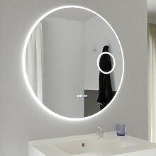 Miroir Ø 80cm - éclairage LED, système