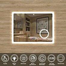 Miroir 80cmx60cm multifonctionnel avec 3 couleur