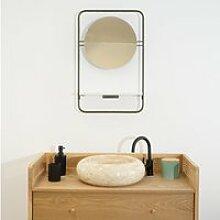 Miroir avec une étagère de salle de bain