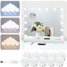 Miroir de maquillage professionnel avec lumière