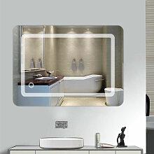 MIROIR DE SALLE DE BAIN 70X50 CM MIROIR LED LAMPE
