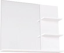 Miroir de salle de bain avec 3 étagères