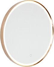 Miroir de salle de bain cuivre 50 cm avec LED avec