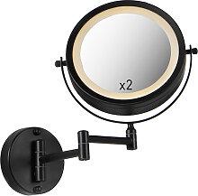 Miroir de salle de bain design noir avec LED