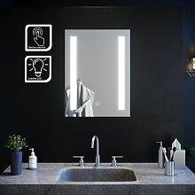 Miroir de salle de bain led rectangle 60x45 cm