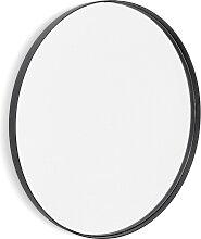Miroir design rond noir 'BELLO' avec une