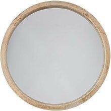 Miroir en bois D50 cm